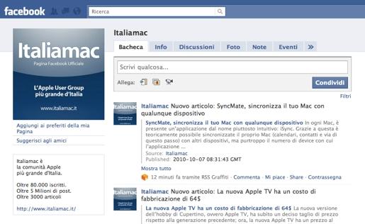 italiamac facebook Italiamac a gonfie vele su Facebook, oltre 2000 gli iscritti