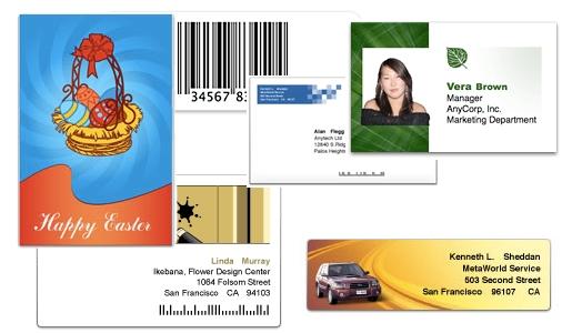 labels samples Labels & Addresses, creare etichette e buste personalizzate su Mac