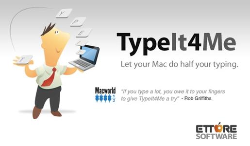 typeit4me 1 TypeIt4Me, scrivere più velocemente sul Mac