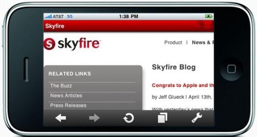 skyfire iphone 0001 500x268 SkyFire: Gli utenti iPhone hanno fatto crollare i server, la vendita dellapp al momento è sospesa