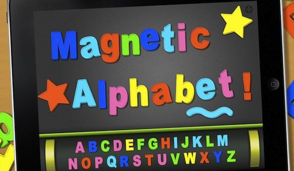 s01 Alphabet, la lavagna magnetica su iPad in versione Natalizia.
