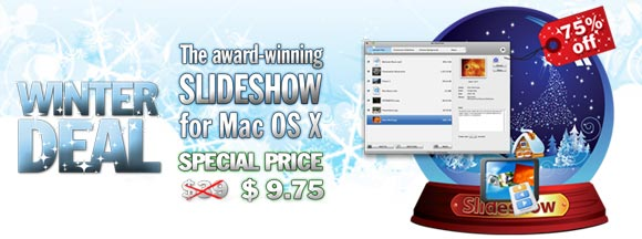slideshow iusemac Prorogato iUseMac Winter Deal: Slideshow per Mac scontato del 75%