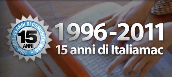 15anniitaliamacsmall 1996 2011, Italiamac da 15 anni dalla parte degli utenti Mac italiani