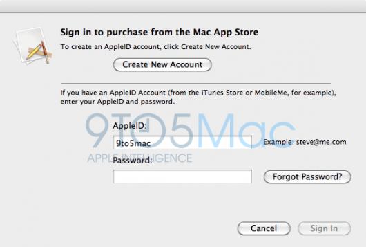 MacAppStoreLogin9to5mac 530x357 Mac App Store: ecco alcune immagini in anteprima