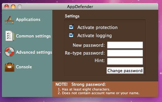 common settings1 Proteggi le tue applicazioni con AppDefender