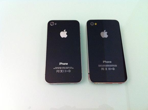 compare2 Prova di una copia delliPhone 4 made in China