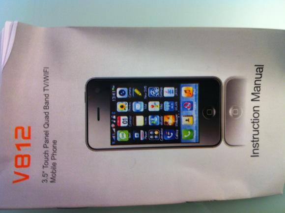manual Prova di una copia delliPhone 4 made in China