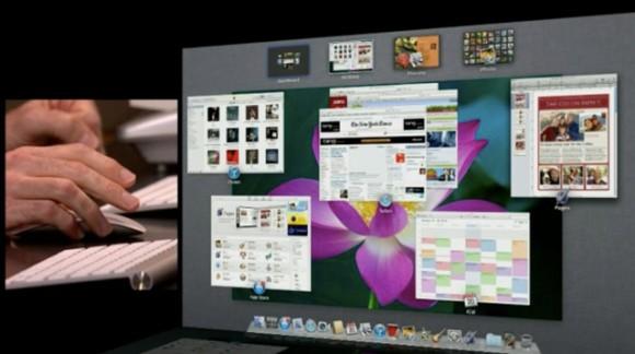 mission control 225 580x324 Prime immagini in anteprima di Mac OS X Lion