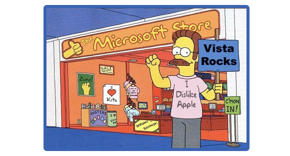 ned Microsoft annuncia lapertura di un nuovo store in California. Naturalmente, vicino ad un Apple Store