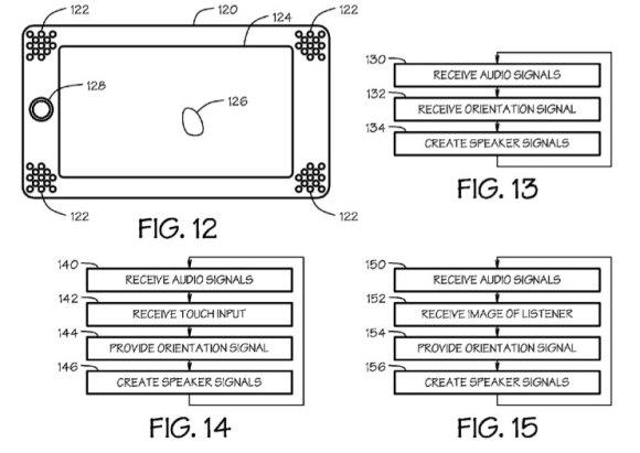 patent 110106 2 580x411 Secondo AppleInsider, Apple sta lavorando al supporto di audio dinamico multicanale per iPad e simili