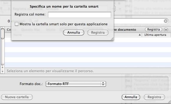 smartinsalva Mac OS X: come utilizzare le cartelle smart