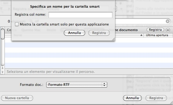 smartinsalva Mac OS X: come utilizzare le cartelle smart