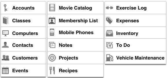 template list iDatabase: la soluzione perfetta per organizzare informazioni