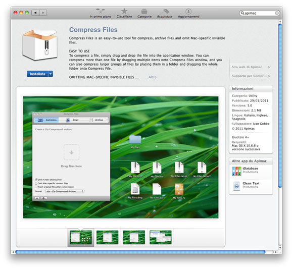 compressfilesmas Compress Files disponibile sul Mac App Store