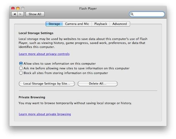 114146 flash player system pref 2 Adobe: nuova versione beta 10.3 del Flash Player