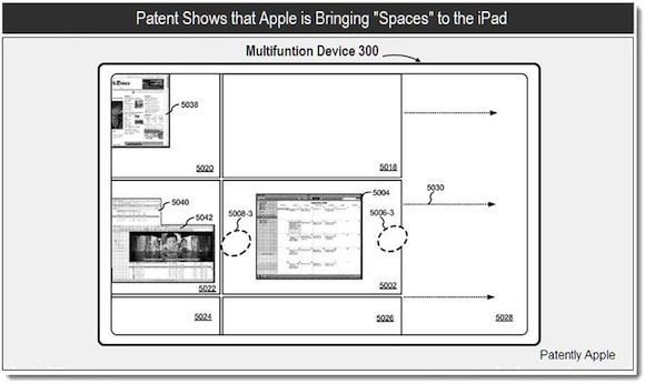 %name Un brevetto Apple mostra gli Spaces su iPad