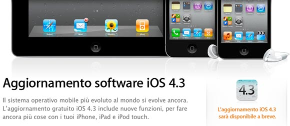 iso43abreve iOS 4.3 : miglioramenti in Safari e in AirPlay, switch hardware e Hotspot Personale