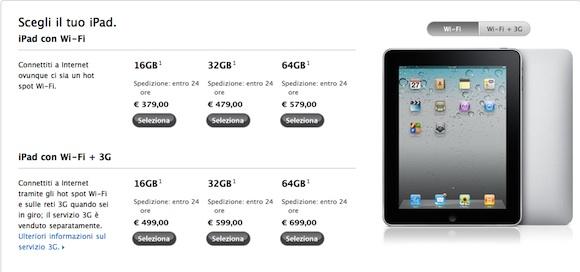 prices Lannuncio del nuovo iPad 2 ha fatto crollare i prezzi delliPad di prima generazione