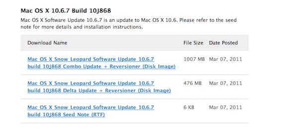 screen capture Una nuova beta di Mac OS X 10.6.7 è stata inviata agli sviluppatori