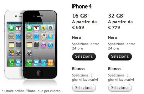 Schermata 2011 04 29 a 14.28.32 I tempi di spedizione delliPhone 4 bianco si allungano