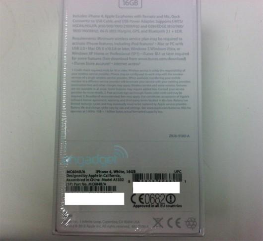 apple white iphone 4 vodafone3 530x487 LiPhone 4 bianco sta per arrivare, mostrate le prime immagini reali