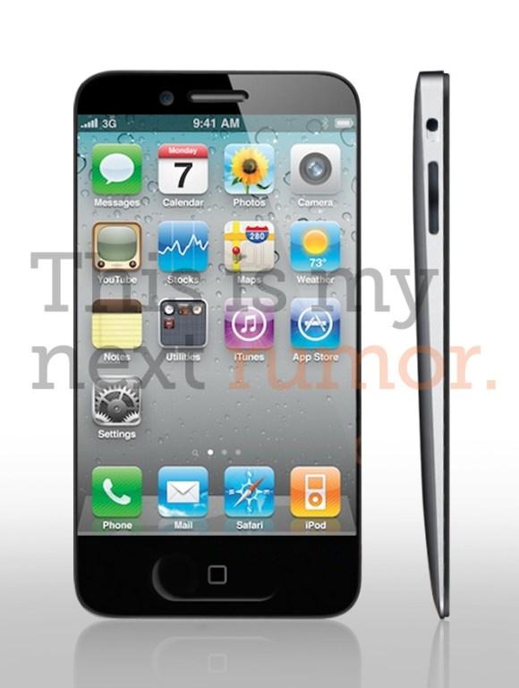 iPhone 5 new mock timn1 580x769 iPhone 5: la rivoluzione del design?