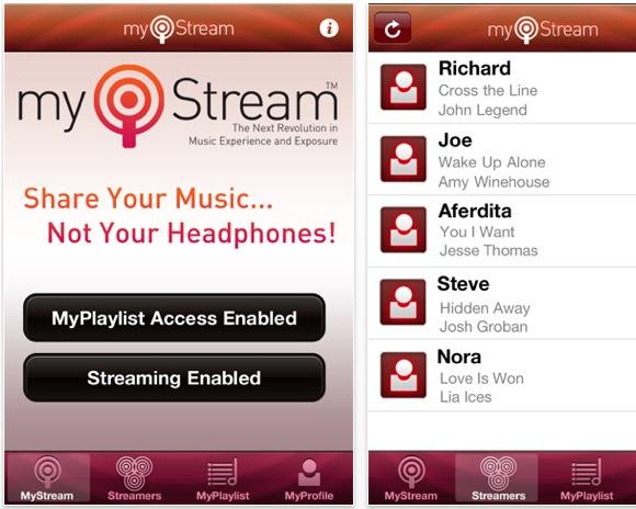 screen capture 2 Condividi la tua libreria musicale con MyStream, in wireless