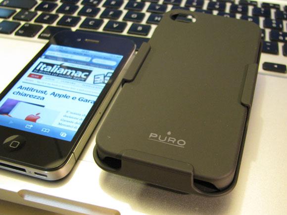 002 Puro, custodia multiuso 3 in 1 per iPhone 4
