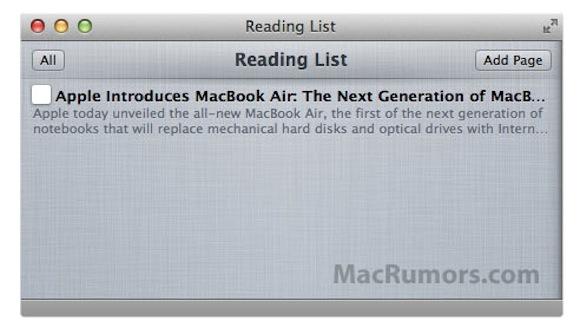212649 reading4 In arrivo Reading List per Safari
