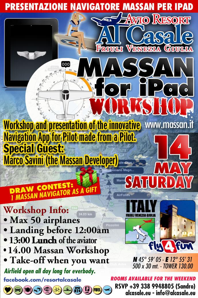 Presentazione Massan Meeting e workshop per piloti ultraleggeri dellapplicativo Massan per iPad