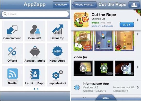 AppZapp PUSH AppZappPush, per ricevere le migliori offerte dellApp Store