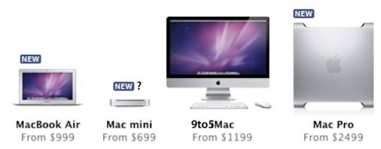 9to5mac new macbook air mac pro mini 540x212 In questa settimana verranno rilasciati i nuovi MacBook Air e Mac Pro insieme a OS X Lion