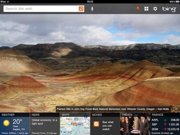 Bing per iPad 580x435 Novità interessanti in Bing per iPad