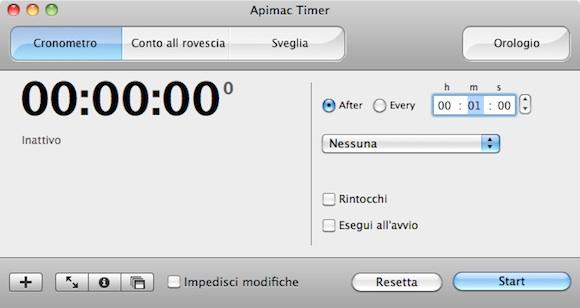 Cronometro Apimac Time pro Apimac Timer Pro: il software più completo per pianificare azioni e tenere il tempo col Mac