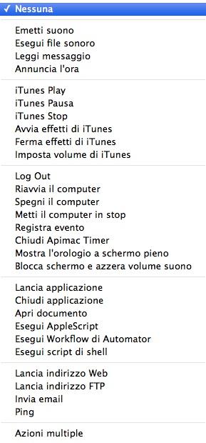 Tasto destro Apimac Time Pro Apimac Timer Pro: il software più completo per pianificare azioni e tenere il tempo col Mac
