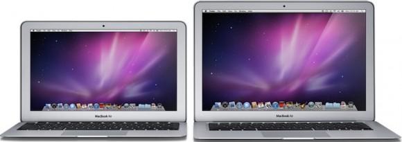 airs 580x205 La prossima settimana MacBook Air più veloci con tastiera retro illuminata e hard disk da 125/228 Gb