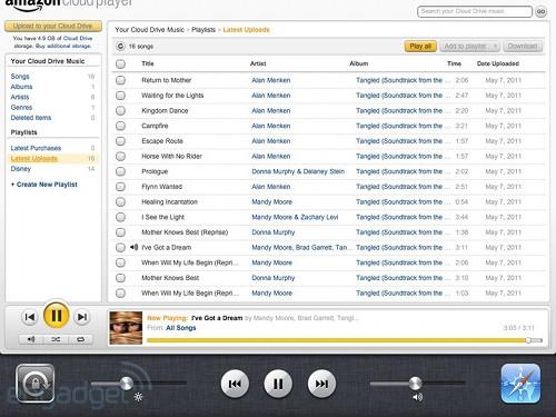 amazon cloud player ios app credit engadget Amazon risponde ad Apple con il servizio di archiviazione cloud drive