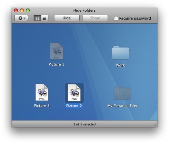 hide folders screen shot 580x489 Altomac Hide Folders Pro: Un modo semplice per nascondere i vostri file e cartelle!