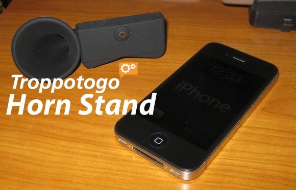 horn stand 1 Horn Stand di Troppotogo. Il tuo iPhone diventa Grammofono.