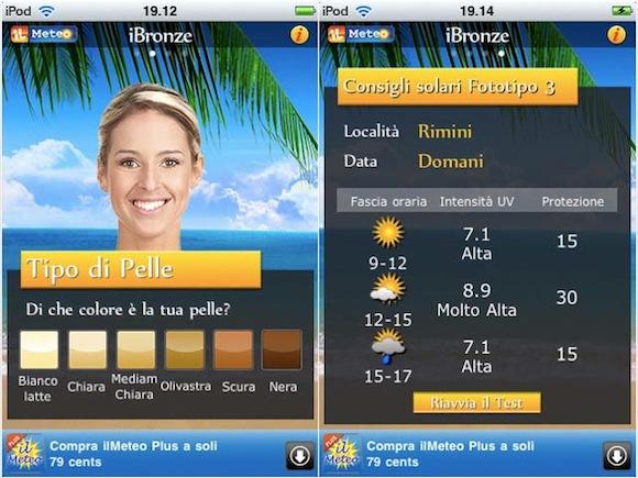 iBronze iBronze: lapp che ti aiuta a prendere il sole