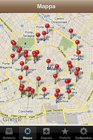 mappa2 iGelato per iOS: unapp da leccarsi i baffi!