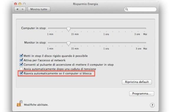 riavvia automaticamente 580x380 Mac OS X Lion si può riavviare da solo in caso di crash