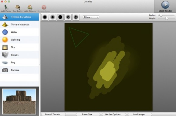 1 580x383 Recensione TerraRay per Mac, render fotografici per tutti