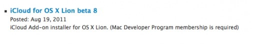 CapturFiles2 Apple rilascia iCloud Beta 8 per gli sviluppatori