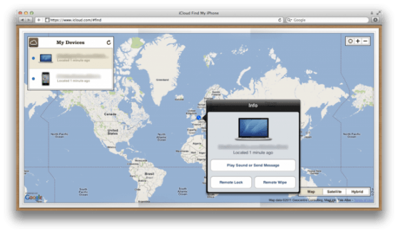 Find My Mac e1312428404528 580x340 Find My iPhone e Find My Mac sono ora integrati in iCloud