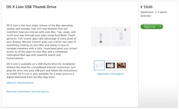 Schermata 08 2455790 alle 11.55.42 OS X Lion: è ora disponibile la pendrive nellApple Store Online