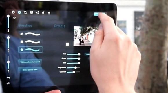 Screenshjot composite 2 580x323 Composite: una nuova applicazione iPad per creare composizioni artistiche dellambiente circostante