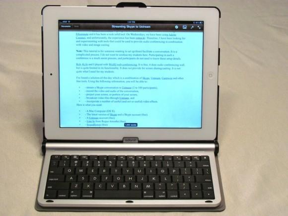 adonitwriter2 5 580x435 Adonit Writer...Una tastiera intelligente per iPad 2