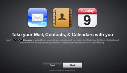 one3 414x238 Ora è possibile migrare i dati da MobileMe ad iCloud