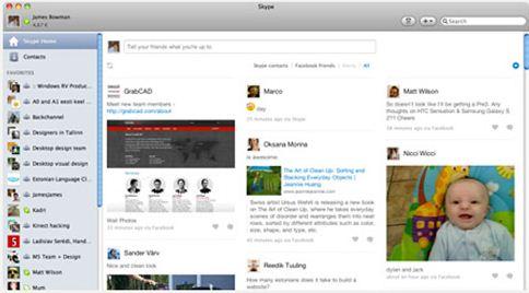 Immagine 2 Skype 5.4 beta per Mac OS X si aggiorna con lintegrazione di Facebook